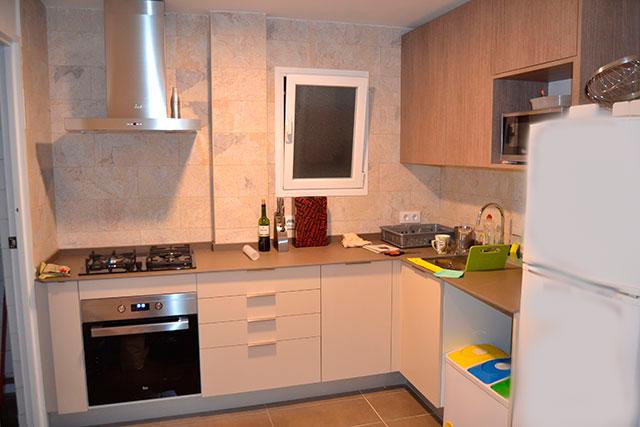 Reforma integral piso en Roger de Flor, cocina